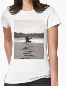 My Beach, Tasmania, Fishing Womens Fitted T-Shirt