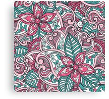 Indian Floral Pattern Canvas Print