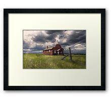 Modern Family on the Prairies Framed Print