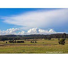 Rural landscape by kingie photos Photographic Print