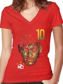 NEYMAR JR. Women's Fitted V-Neck T-Shirt