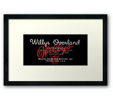 Willys Overland Corporation USA Framed Print