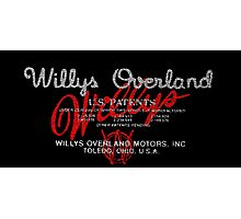 Willys Overland Corporation USA Photographic Print