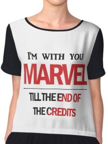 I'm with you till the end of the credits Chiffon Top