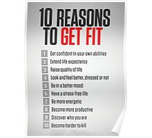 10 Reasons To Get Fit Poster
