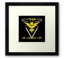 Team Instinct Pokémon GO Framed Print