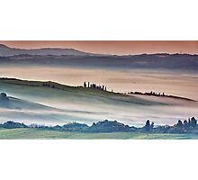 Val DOrcia, misty morning Photographic Print