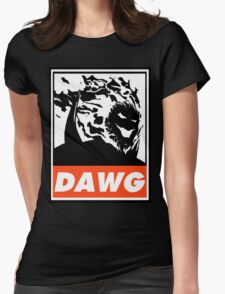 Dormammu Dawg Obey Design Womens Fitted T-Shirt