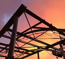 Boat Lift with Sunday Sunset by Julie Van Tosh Photography
