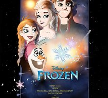 Frozen Star Wars Poster by WillDrawForFood