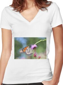 King of the Monarchs! Women's Fitted V-Neck T-Shirt