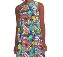 Pop Slang I, by American Jank Brand A-Line Dress