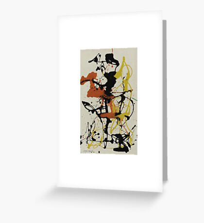 Number 26 by Pollock  Greeting Card
