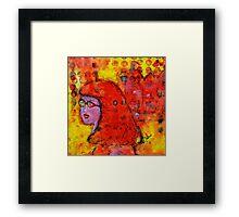 Red Hot Summer Girl Framed Print