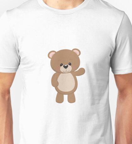 Teddy Bear Waving Unisex T-Shirt