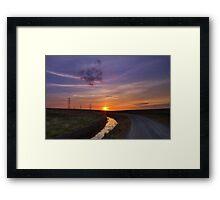 Sunset pylon Framed Print