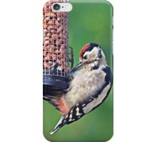 Juvenile greater spotted woodpecker visits Hill Top iPhone Case/Skin