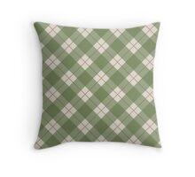 Green Checkered Pattern Throw Pillow