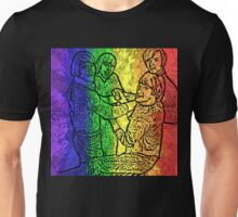 Rainbow Burst Monkees Unisex T-Shirt