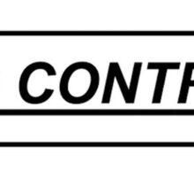 NO CONTROL Sticker