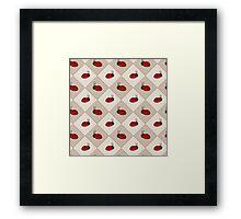 Ladybug Pattern Framed Print