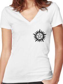 Supernatural Star Women's Fitted V-Neck T-Shirt