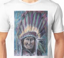 Geronimo with headdress colorful pastel Unisex T-Shirt