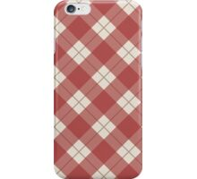 Red Checkered Pattern iPhone Case/Skin