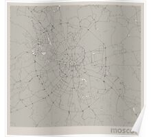 Minimal Maps - Moscow - Light Poster