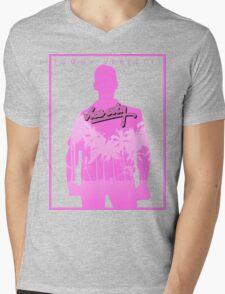 Vice City Pink Mens V-Neck T-Shirt