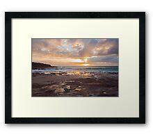 Red Bluff Sunset Framed Print