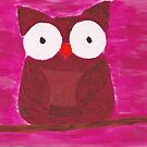 pink owl. by luckylittle