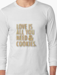 Love is all you need & Cookies in gold Long Sleeve T-Shirt