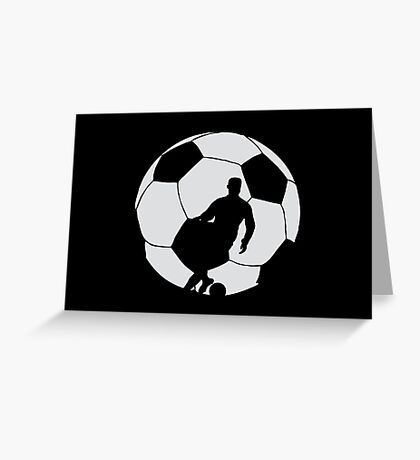 Soccer Silhouette  Greeting Card