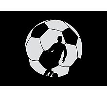 Soccer Silhouette  Photographic Print