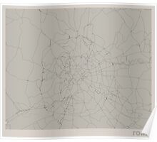 Minimal Maps - Rome - Light Poster