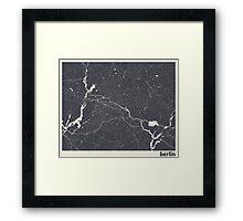 Minimal Maps - Berlin - Dark Framed Print