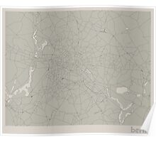Minimal Maps - Berlin - Light Poster