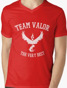 Team Valor Distressed - Red Team - Pokemon Go Mens V-Neck T-Shirt