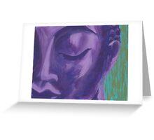 purple buddha Greeting Card