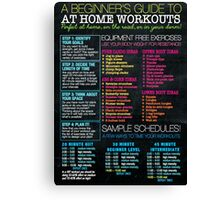 Home Workout Guide Canvas Print