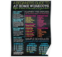 Home Workout Guide Poster
