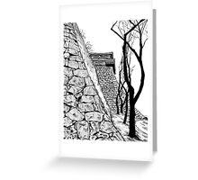 Matsuyama castle, Japan Greeting Card