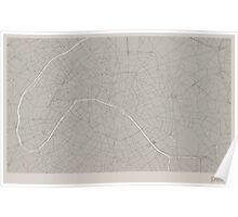 Minimal Maps - Paris - Light Poster