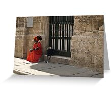 Traditional Cuban Lady Greeting Card