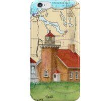 Little Traverse Lighthouse MI Chart Cathy Peek iPhone Case/Skin