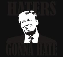 haters gonna hate donald trump Kids Tee