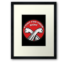 Fight For Your Right Framed Print