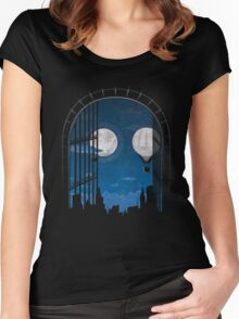 Ghost of This City - Aosuke  Women's Fitted Scoop T-Shirt