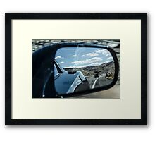 Objects in Mirror Framed Print